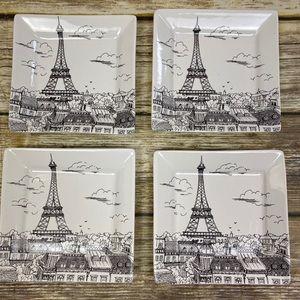 222 Fifth City Scenes Paris Appetizer Plates